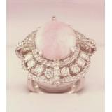 Кольцо c бриллиантами и агатом