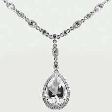 Колье с бриллиантами и хрусталем