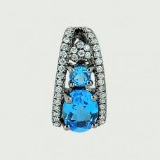 Кулон с бриллиантами и топазами