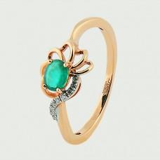 Кольцо с изумрудом бриллиантами